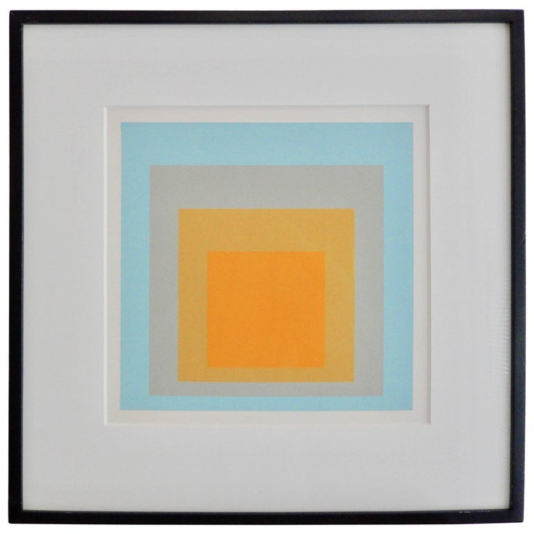 "Josef Albers, ""Wide Light"" Homage to the Square Screen Print, 1962 For Sale"