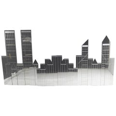 Mirror NYC Skyline Wall Mount Sculpture by Mechanical Mirror Works Inc