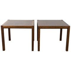 Midcentury 1970s Pair of Rolf Middelboe & Gorm Lindum Wenge Sofa Coffee Tables