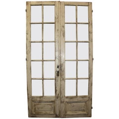 Pair of 19th Century French Painted Doors