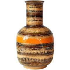 Bitossi for Raymor, Original Label, Large Rimini Sahara Vase Italian Pottery