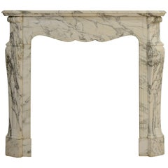 antique marble fireplace mantels. Small Antique Pompadour Style Fireplace Mantel in Arbescato Marble and Vintage Fireplaces Mantels  4 025 For Sale at 1stdibs