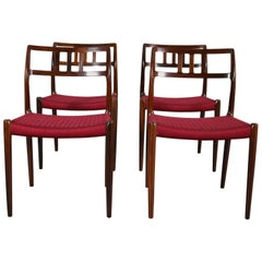 Set of Four Rosewood Model 79 Dining Chairs by Niels Otto Moller