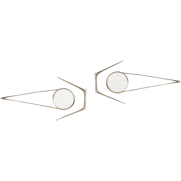 """Pair of Wall Sconces """"Arcturus"""" by Félix Agostini, circa 1971 For Sale"""