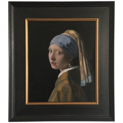 Fine Oil Reproduction of Vermeer's Masterpiece the Girl with the Pearl Earring