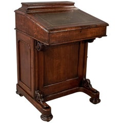 Victorian Antique Davenport, English Oak Writing Desk, Bureau, circa 1870