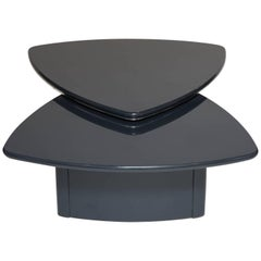 Modern Swivel Top Coffee Table in Grey Lacquer