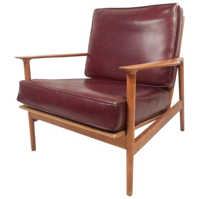 Mid-Century Modern Danish Teak Lounge Chair For Sale
