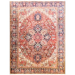 Amazing Antique Heriz Carpet