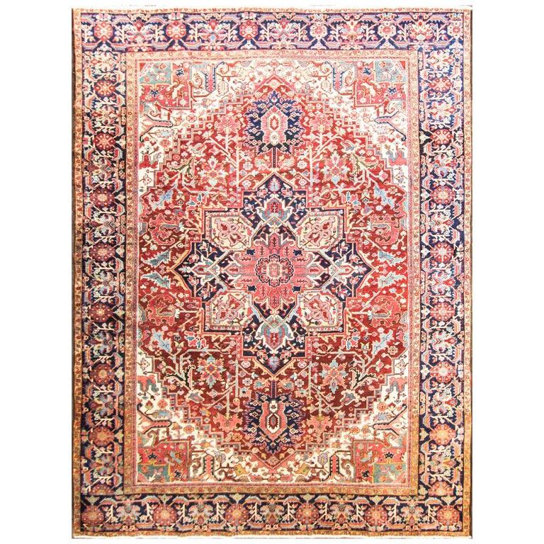 Amazing Antique Heriz Carpet