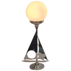 Art Deco Yacht or Sailboat Desk Lamp