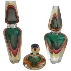 Group of Murano Glass Perfume Bottles