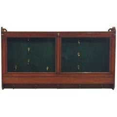 English Hanging Gun Case or Cabinet
