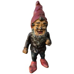 Cast Iron Gnome Doorstop