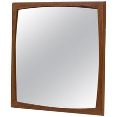 Mid-Century Modern Scandinavian Mirror in Teak by Kai Kristiansen, Denmark