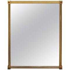 French Maison Baguès Neoclassical Bronze Mirror