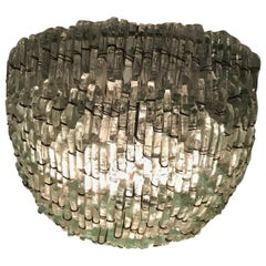 Broken Glass Demilune Wall Sconce