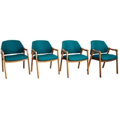 Set of Four Dining Chair '814' Designed by Ico Parisi for Cassina
