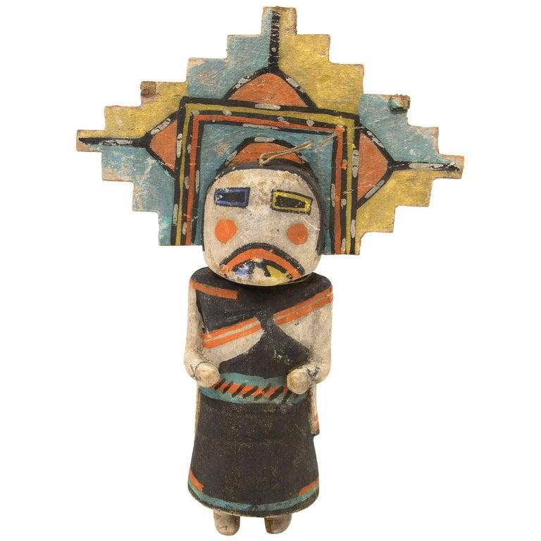 "Antique Native American Kachina Doll, ""Salako Mana"", Hopi, Early 20th Century"
