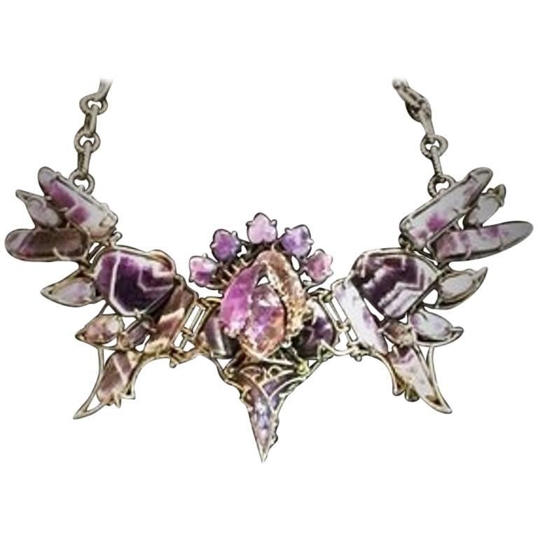Val Stern, Gargoyle, Articulated and Adjustable Necklace, 21st Century