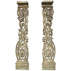Pair of 19th Century Neoclassical Inspired Ormolu Architectural Elements