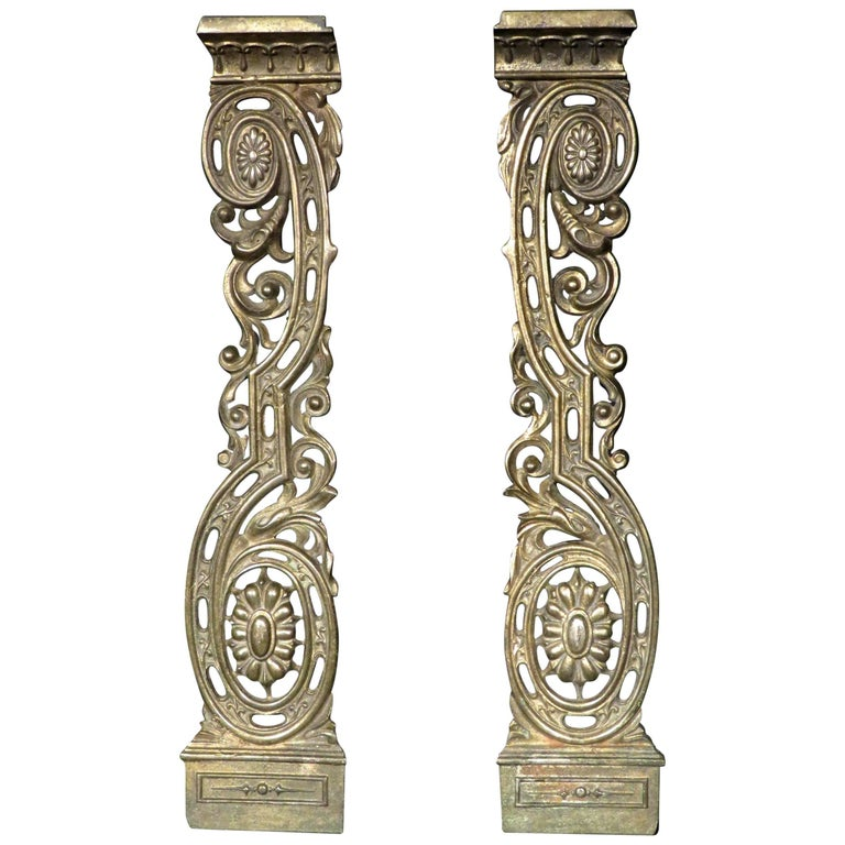 Fine Pair of 19th Century Neoclassical Inspired Architectural Ormolu Appliques