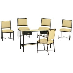 Exceptional Desk Set by Jacques Adnet