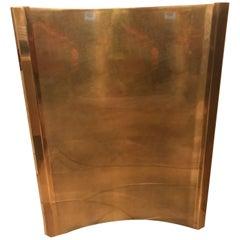 Mastercraft Brushed Brass Pedestal Stands for Dining Table