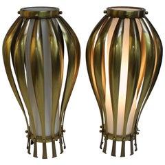 Elegant Pair of Midcentury Table Lamps