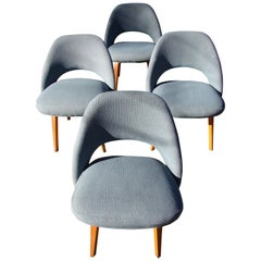 Eero Saarinen for Knoll Set of Four Executive Side Chairs with Bentwood Legs