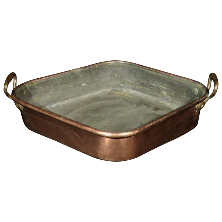 19th Century Copper Turbot Poaching Pan 'Turbotiere', French, circa 1890