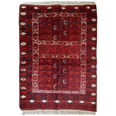 Handmade Vintage Turkmen Engsi Rug, 1970s