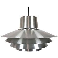 Aluminium Svend Middelboe Verona Pendant Produced by Nordisk Solar, 1970