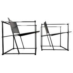 Pair of FM61 Chairs by Radboud Van Beekum for Pastoe, 1980s