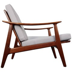 Vintage Danish Teak Armchair Reupholstered in Bute Fabric, 1950s-1960s