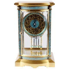 Champleve 8 Day French Carriage Clock