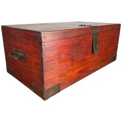 "Classic Roycroft ""Goodie"" Box, Mahogany and Hammered Metal"