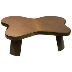 "Mid-Century Modernist ""Amoeba"" Cork-Top Cocktail Table by Paul Frankl"
