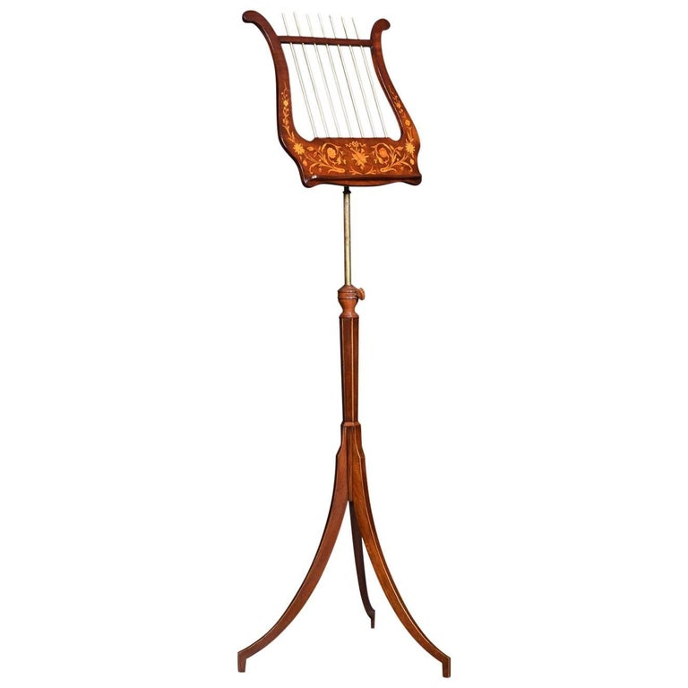 Marquetry Inlaid Music Stand