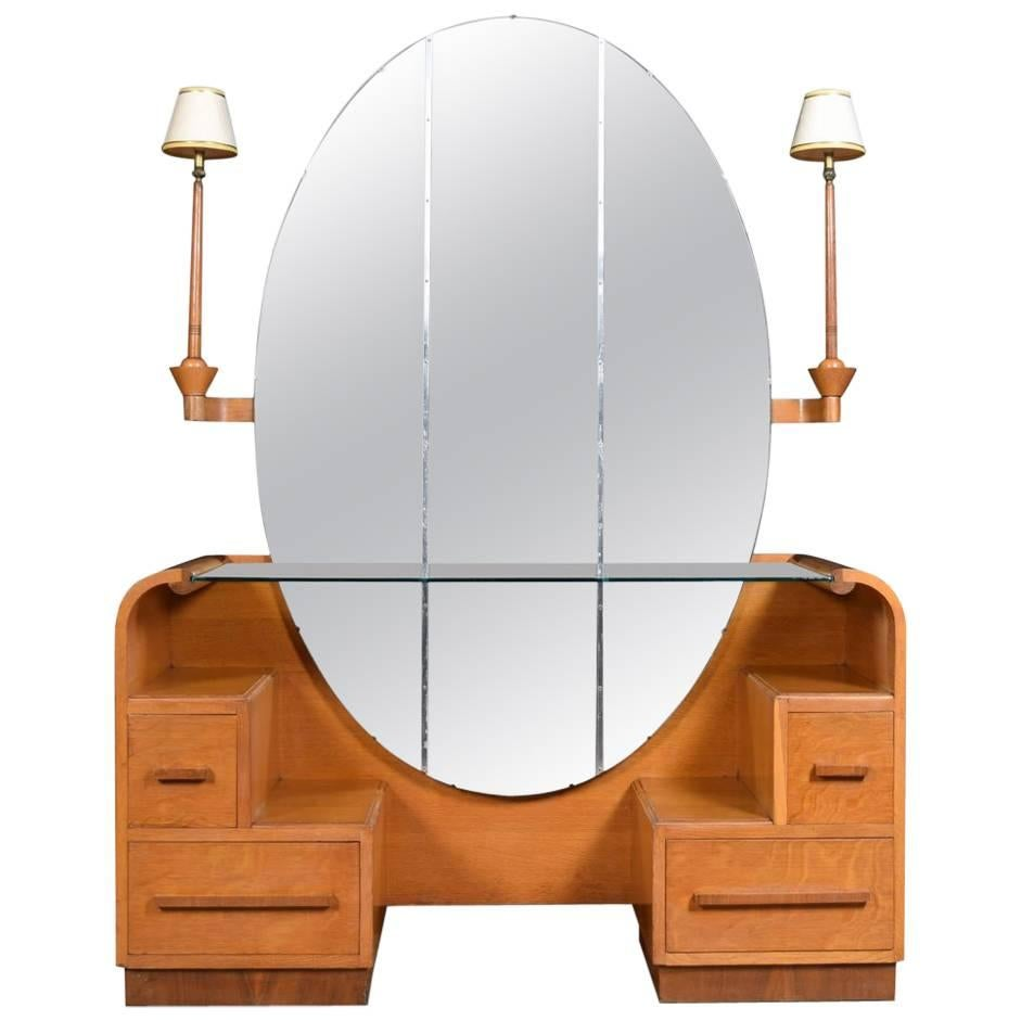 Charming Art Deco Dressing Table For Sale