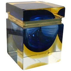 Mandruzzato Designed Jewelry Box Murano Glass