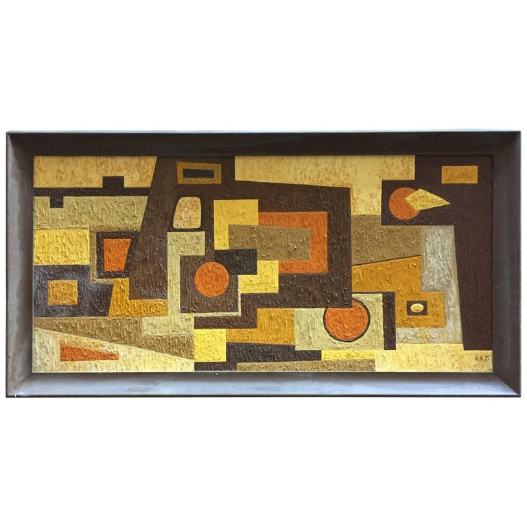 1950s Abstract Painting RKM For Sale