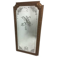 "An 8'6"" Tall Mirror from the Royal Albert Hall London, engraved with a Mandolin."