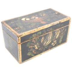 19th Century New England Stencilled Dresser Box
