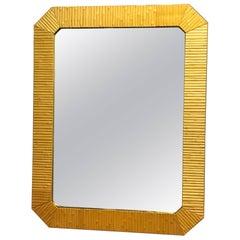 Bamboo Modern Mirror with Brass Finnish