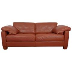 Cognac Leather DS-17 Sofa from De Sede, Switzerland, 1989