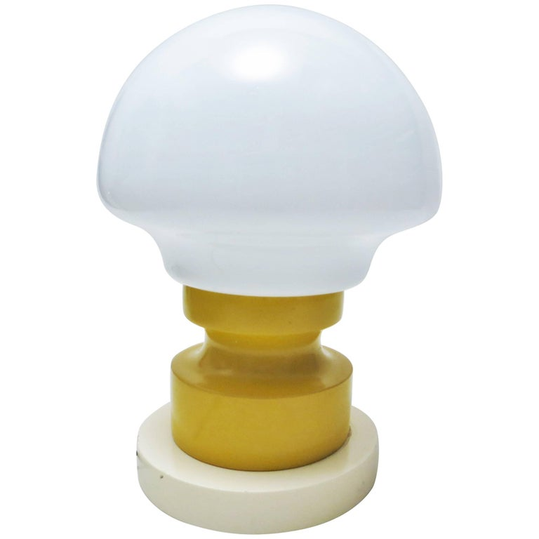 Italian Mid-Century Modern Lamp Yellow and White