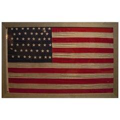 Antique American Flag 46 Star