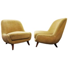 Bergmann Pair of Chairs, Germany, 1950s