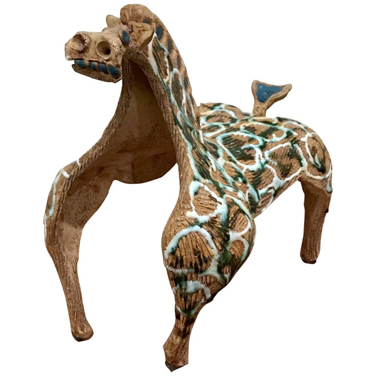 1960s Hal Fromhold Modernist Ceramic Horse Sculpture